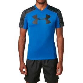 4/1限定!エントリー&楽天カード決済でポイント12倍〜! アンダーアーマー(UNDER ARMOUR) ラグビープラクティスTシャツ #1312828 RYL/BLK/BLK RG (Men's)