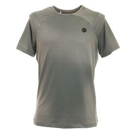 【6/5 24h限定 エントリーでP10倍〜】アンダーアーマー(UNDER ARMOUR) ラッシュ ヒートギア フィッティド プリント半袖Tシャツ 1351559 GVN/BLK AT オンライン価格 (Men's)