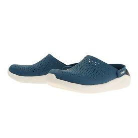クロックス(crocs) サンダル ぺたんこ ライトライド LiteRide Clog Blue 204592-4SB ブルー 青 (メンズ、レディース)