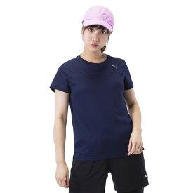 3/30日限定!要エントリーでポイント10倍〜! プーマ(PUMA) 【オンライン限定特価】ラン ショートスリーブTシャツ 517749 02 NVY (Lady's)