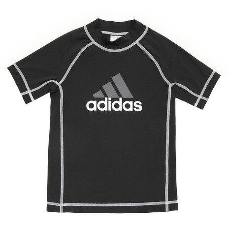 アディダス(adidas) ラッシュガード 半袖プルオーバー MBY48-BK5638 (Jr)
