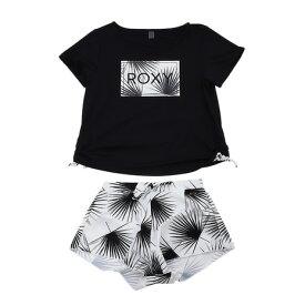 ロキシー(ROXY) ラッシュTシャツ付き ボタニカル柄 3点セット PALM DANCE 19SPRSW191010BLK (Lady's)