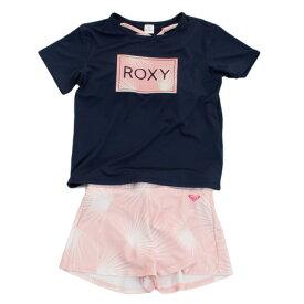 ロキシー(ROXY) ジュニア ラッシュTシャツ付き ボタニカル柄 3点セット MINI PALM DANCE 19SPTSW191103NVY (Jr)