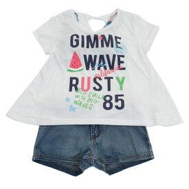 ラスティ(RUSTY) ジュニア Tシャツ付き水着 4点セット 968805RED (キッズ)