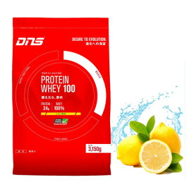 ディーエヌエス(DNS) プロテイン ホエイ100 レモン風味 3150g 90食入 (メンズ、レディース)