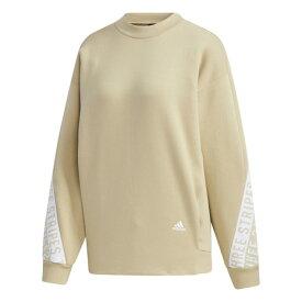 アディダス(adidas) 3ストライプス ワーディング クルーネック スウェットシャツ IXK76-GF6988 オンライン価格 (レディース)
