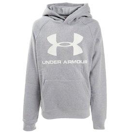 アンダーアーマー(UNDER ARMOUR)ライバルフリース ロゴ フーディー 1325328 MRH/WHT AT (Jr)