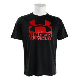 アンダーアーマー(UNDER ARMOUR) 【オンライン特価】 テックスプリット 半袖Tシャツ #1348558 BLK/RED AT (Men's)