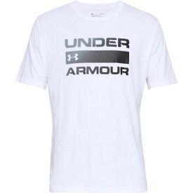 【8月11日までエントリーででP5倍~】アンダーアーマー(UNDER ARMOUR) Tシャツ メンズ チーム イシュー ワードマーク 半袖Tシャツ 1358570 WHT/BLK AT オンライン価格 (Men's)