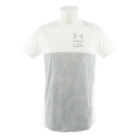アンダーアーマー(UNDER ARMOUR) Tシャツ メンズ MK-1ショートスリーブカラーブロック 半袖Tシャツ 1327250 WHT/MGA AT オンライン価格 (Men's)