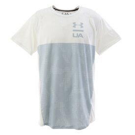 【8月11日までエントリーででP5倍~】アンダーアーマー(UNDER ARMOUR) Tシャツ メンズ MK-1ショートスリーブカラーブロック 半袖Tシャツ 1327250 WHT/MGA AT オンライン価格 (Men's)