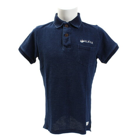 エルケクス(ELKEX) INDG SLUB PIQUE ポロシャツ 863EK8FQ5809IBLU (Men's)