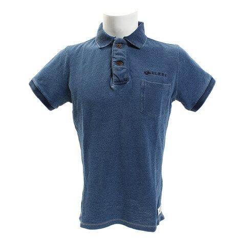 エルケクス(ELKEX) INDG SLUB PIQUE ポロシャツ 863EK8FQ5809LBLU (Men's)