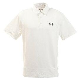 【8月11日までエントリーででP5倍~】アンダーアーマー(UNDER ARMOUR) 半袖ポロシャツ 1359634 WHT オンライン価格 (Men's)