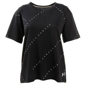 アンダーアーマー(UNDER ARMOUR) ロゴ プリント ライブ 半袖Tシャツ 1355708 BLK/WHT/WHT AT (Lady's)