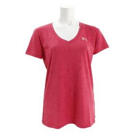アンダーアーマー(UNDER ARMOUR) Tシャツ レディース 半袖 テック Vネックマーブルジャカード 1328880 IPK/MSV AT オンライン価格 (Lady's)