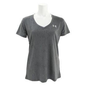 アンダーアーマー(UNDER ARMOUR) Tシャツ レディース 半袖 テック VネックマーブルジャカードTシャツ 1328880 PCG/MSV AT オンライン価格 (Lady's)