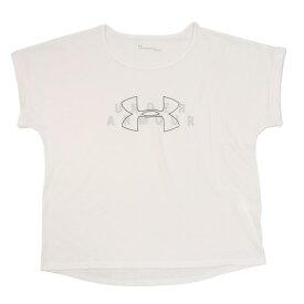 【7月10日限定 エントリー&楽天カード決済でP10倍〜】アンダーアーマー(UNDER ARMOUR) Tシャツ レディース 半袖 ファッション クルー グラフィック 1355399 WHT AT オンライン価格 (Lady's)