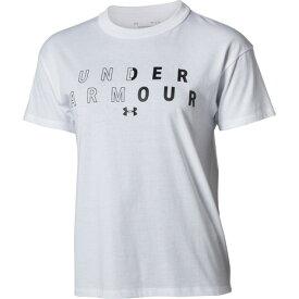 アンダーアーマー(UNDER ARMOUR) ガールズ フレンド ビッグ テキストロゴ 1355400 WHT AT オンライン価格 (レディース)