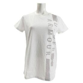 【12月5日24h限定エントリーでP10倍〜】アンダーアーマー(UNDER ARMOUR) Tシャツ レディース 半袖 グラフィック クラシック クルーバーティカルワードマーク 1321146 WHT/PXP AT (Lady's)