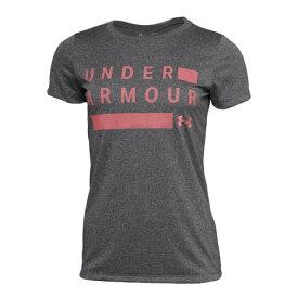 【12月1日24h限定エントリーでP10倍〜】アンダーアーマー(UNDER ARMOUR) Tシャツ レディース 半袖 テック ワードマーク グラフィック 1359129 JGL/ECP AT オンライン価格 (レディース)