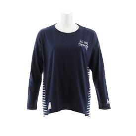 ルコック スポルティフ(Lecoq Sportif) 【ポイント15倍】【多少の傷汚れありの為大奉仕】Tシャツ レディース 長袖 Aライントップス QMWMJB11XB NVY オンライン価格 (レディース)