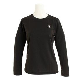 ルコック スポルティフ(Lecoq Sportif) 長袖ワンポイントTシャツ QMWNJB30ZZ BLK (Lady's)