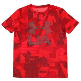 アンダーアーマー(UNDER ARMOUR) 【多少の傷汚れありの為大奉仕】PRINTED CROSSFADE Tシャツ 1306088 RED/SLG AT (Jr)