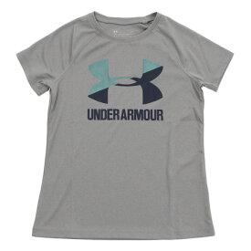 アンダーアーマー(UNDER ARMOUR) ビッグロゴソリッドTシャツ 1331678 SLE/VNB/ADY AT (Jr)