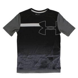 アンダーアーマー(UNDER ARMOUR) ジュニア BTH UPF50 半袖Tシャツ 1328985 BLK/PGY AT (Jr)