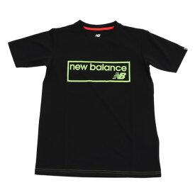 ニューバランス(new balance) ジュニア スムースニット 半袖Tシャツ JJTP8876BK (Jr)