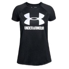 【5/15 24h限定 エントリーで会員ランク別ポイント最大10倍!】アンダーアーマー(UNDER ARMOUR) Big Logo Tee Solid SS 1331678 Tシャツ 半袖 BLK/WHT/WHT AT オンライン価格 (キッズ)
