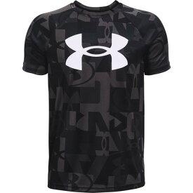 アンダーアーマー(UNDER ARMOUR) Tシャツ 半袖 ボーイズ テック ビッグロゴ プリント 1363278 001 (キッズ)