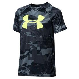 アンダーアーマー(UNDER ARMOUR) Tシャツ 半袖 ボーイズ テック ビッグロゴ プリント 1363278 002 (キッズ)
