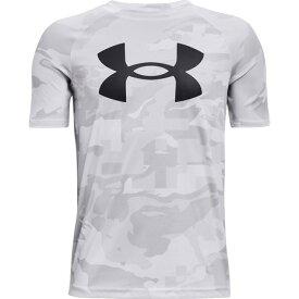 アンダーアーマー(UNDER ARMOUR) Tシャツ 半袖 ボーイズ テック ビッグロゴ プリント 1363278 100 (キッズ)
