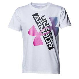 アンダーアーマー(UNDER ARMOUR) ガールズ テック グラフィック ロゴ Tシャツ 1364232 100 半袖 (キッズ)