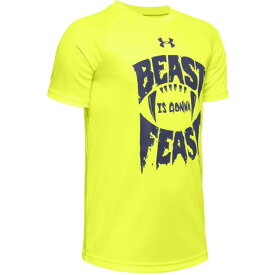 【6/5 24h限定 エントリーでP10倍〜】アンダーアーマー(UNDER ARMOUR) ボーイズ テック Beast Gonna Feast 半袖Tシャツ 1351859 XRY/BIK AT オンライン価格 (Jr)