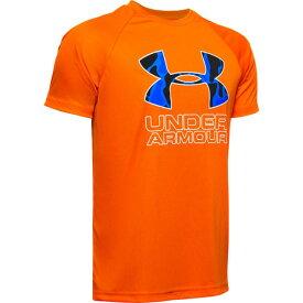 アンダーアーマー(UNDER ARMOUR) ボーイズ テック ハイブリッド プリント フィルロゴ半袖Tシャツ 1354000 PES/WHT AT オンライン価格 (Jr)
