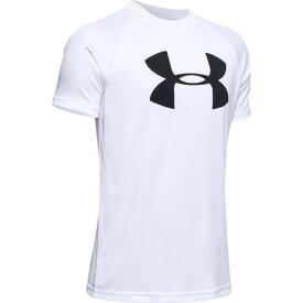 アンダーアーマー(UNDER ARMOUR) ボーイズ テック ビッグロゴ 半袖Tシャツ 1351850 WHT/BLK AT オンライン価格 (Jr)