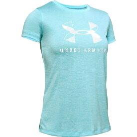 アンダーアーマー(UNDER ARMOUR) ガールズ グラフィック ツイスト ビッグロゴ 半袖Tシャツ 1351637 BHZ/WHT AT オンライン価格 (キッズ)