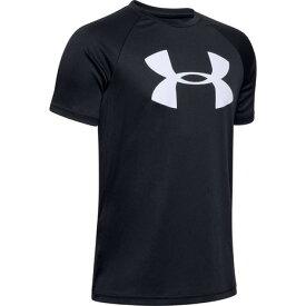 アンダーアーマー(UNDER ARMOUR) ボーイズ テック ビッグロゴ 半袖Tシャツ 1351850 BLK/WHT AT オンライン価格 (キッズ)
