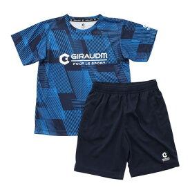 ジローム(GIRAUDM) ドライ 吸汗速乾 UVカット ジュニア Tスーツ 865GM1CD6722 BLU Tシャツ&ハーフパンツセット (キッズ)