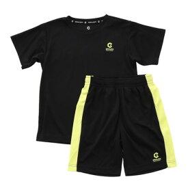 ジローム(GIRAUDM) ドライ 吸汗速乾 UVカット ジュニア Tスーツ 865GM1CD6724 BLK Tシャツ&ハーフパンツセット (キッズ)