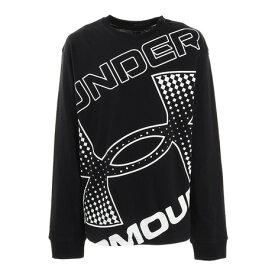 アンダーアーマー(UNDER ARMOUR) ライブブランデッド ロゴ 長袖Tシャツ 1364174 BLK AT (キッズ)