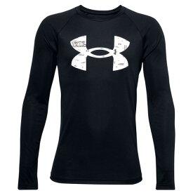 アンダーアーマー(UNDER ARMOUR) テック ロゴ フィル 長袖Tシャツ 1357601 BLK/WHT AT (キッズ)