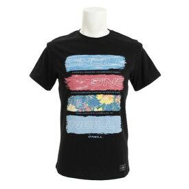 オニール(O'NEILL) ボーダー風デザインTシャツ 618518BLK (Men's)
