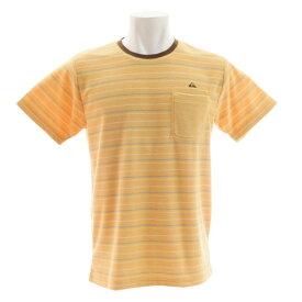 【8/1〜8/2はエントリーでP5倍】クイックシルバー(Quiksilver) Tシャツ 半袖 ストライプ パイルTシャツ QST182039BGE オンライン価格 (メンズ)