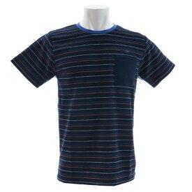 【8/1〜8/2はエントリーでP5倍】クイックシルバー(Quiksilver) Tシャツ 半袖 ストライプ パイルTシャツ QST182039NVY2 オンライン価格 (メンズ)
