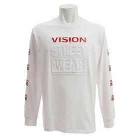 【9月20日24h限定エントリーでP10倍〜】VISION Tシャツ 長袖 袖プリント エンボスロゴ 9323134-06OFF (Men's)