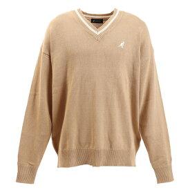 KANGOL ワンポイント刺繍 Vネックセーター 9573-2551 BE (Men's)